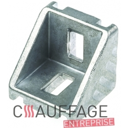 Entretoise d'angle aluminium avec ecrou m10 pour chauffage sovelor jumbo