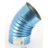 Coude 45° diametre 125 simple paroi aluminie pour chauffage sovelor