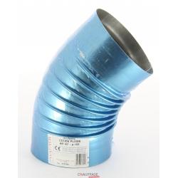 Coude 45° diametre 180 simple paroi alumine