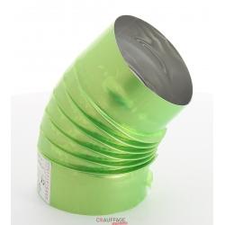 Coude 45° diametre 250 simple paroi alumine pour chauffage sovelor