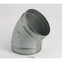 Coude 45° galva diametre 400 pour chauffage sovelor