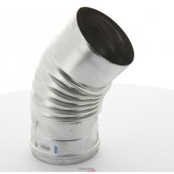 Coude 45° etanche diametre 100 mm pour chauffage sovelor ags-ags/c-agv 45