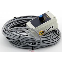 Thermostat d'ambiance etanche avec 10 m de cable