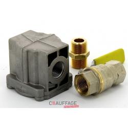 Kit gaz naturel 20mbar comprenant un filtre gaz et