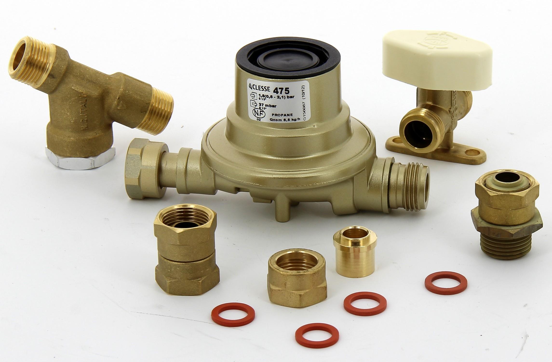 kit gaz propane comprenant 1 detendeur 1 5 bar 37mbar pour chauffag. Black Bedroom Furniture Sets. Home Design Ideas