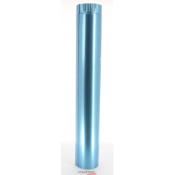Tuyau droit 1 m diametre 125 simple paroi aluminie de chauffage sovelor