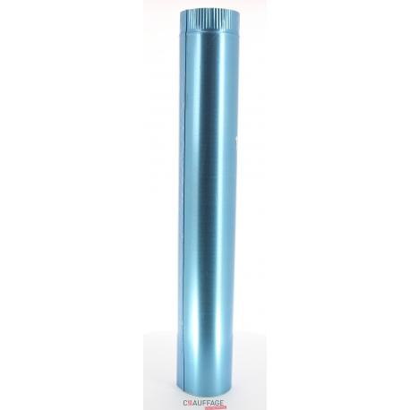 Tuyau droit 1 m sovelor diametre 125 simple paroi aluminie