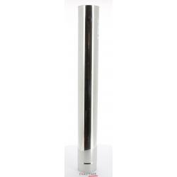 Tuyau droit 1 m diametre 250 mm simple paroi inox 304 de chauffage sovelor