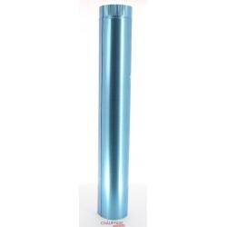 Tuyau droit 1 m diametre 200 simple paroi aluminie de chauffage sovelor