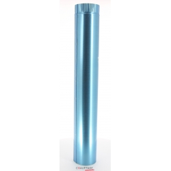Tuyau droit 1 m diametre 300 simple paroi aluminie de chauffage sovelor