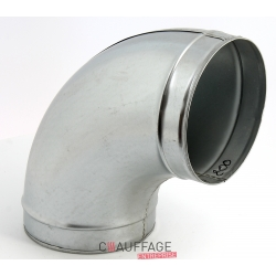 Coude 90° long 1.20 noir epoxy pour brancard protection jumbo