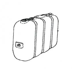 Cuve fixe 2500 litres polyethylene pour stockage fuel de chauffage sovelor