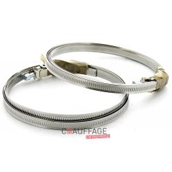 Collier de serrage pour gaine souple diametre 180 à 355 mm