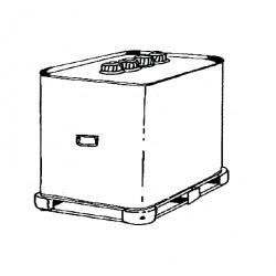 Cuve mobile 700 l fuel metal double paroi avec rack transport pour chauffage sovelor