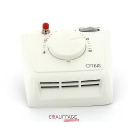 Thermostat d'ambiance pour ags avec sonde deportee et horloge programmable 7 jours et int