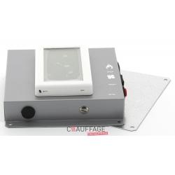 Thermostat d'ambiance avec horloge hebdomadaire pour ags / agv avec rearmement securite et i
