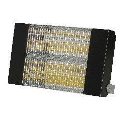 Chauffage infrarouge halogene a quartz puissance 3000 w carrosserie acier laque noir