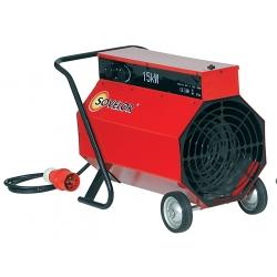 Chauffage air pulse mobile sur roues electrique 380 v tri 15 kw